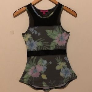 Material Girl Floral Active Top